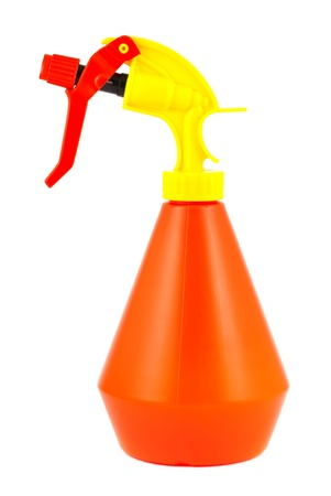 Orange spray bottle isolated on white background Stock Photo - 9824438