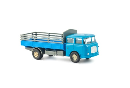 Toy car truck isolated on white background photo