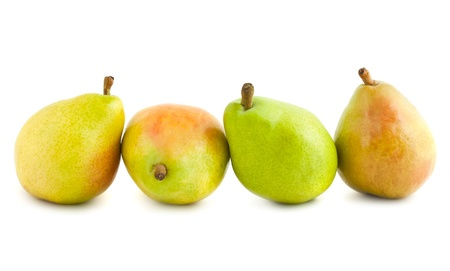 Four ripe pears isolated on white background  Stock Photo - 10563884