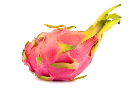 Ripe pink pitahaya isolated on a white background  photo