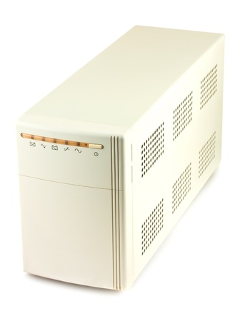 Uninterruptible power supply system isolated on a white background photo
