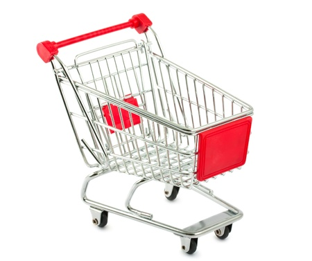 Metal shopping cart isolated on white background Stock Photo - 11270726