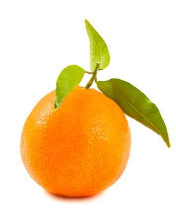 Ripe tangerine isolated on a white background Stock Photo - 11270724