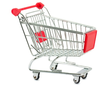 Metal shopping cart isolated on white background Stock Photo - 11480788