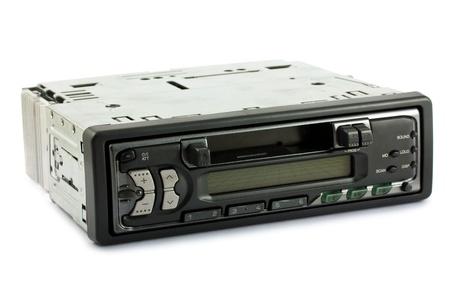 equipo de sonido: Sistema de audio aisladas sobre fondo blanco Foto de archivo