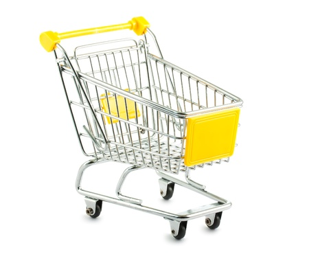 Empty shopping cart isolated on white background Stock Photo - 11919023