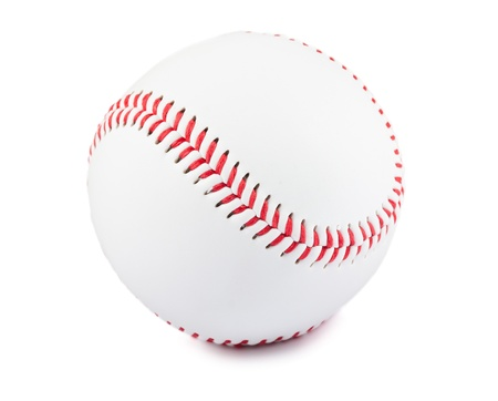 Baseball ball isolated over white background photo