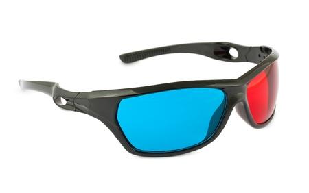 Plastic cinema 3D glasses isolated on white background Stock Photo - 12344182