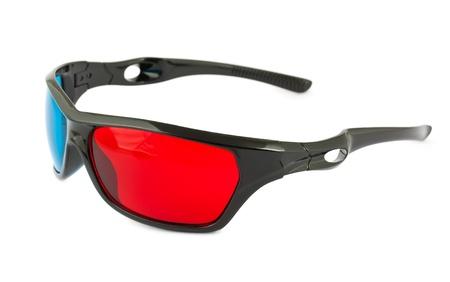 Plastic cinema 3D glasses isolated on white background Stock Photo - 12333999