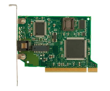 adapter: Network card for computer isolated on white background