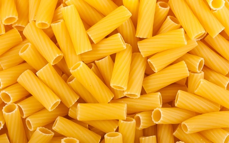close up food: Pasta close-up, voedsel achtergrond textuur Stockfoto