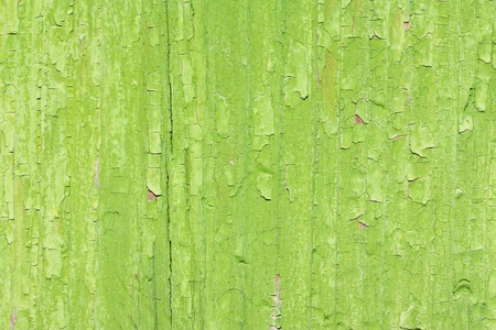 Old peeling green paint on wooden board background Stock Photo - 13334527