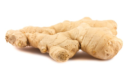 Ginger root isolated on white background photo