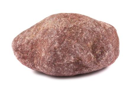 Large stone isolated on white background
