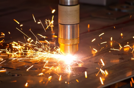 metallurgy: Plasma metal cutting precision industrial cnc machine