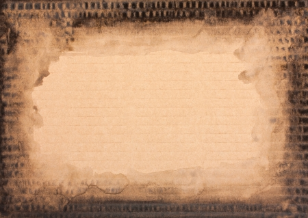 Grunge cardboard texture, vintage brown watercolor background photo