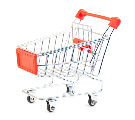 Shopping cart isolated on white background Stock Photo - 14874826