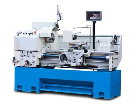 Lathe turning machine isolated on white background
