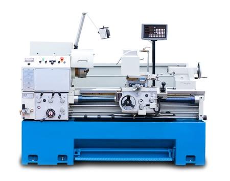 frezowanie: Toczenie maszyna samodzielnie na białym tle
