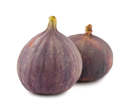 purple fig: Pair of ripe figs isolated on white background