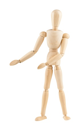 wooden mannequin: Wooden mannequin showing product, space to insert text or design