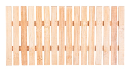 Brown natural wooden fence isolated on white background Stock Photo - 16980595