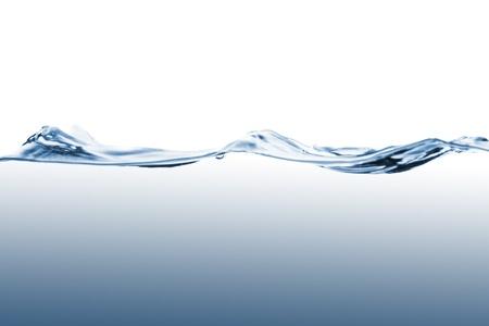 Close-up van water golven geïsoleerd op witte achtergrond