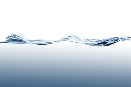 ripple  wave: Closeup of water waves isolated on white background