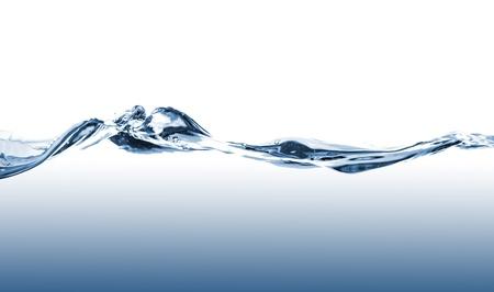 Blauw water golven op een witte achtergrond