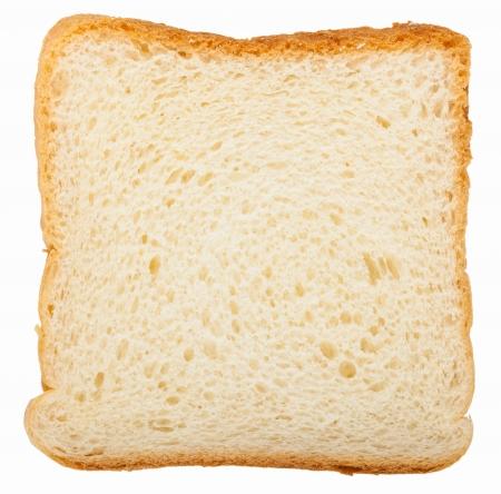 Toast bread slice isolated on white background