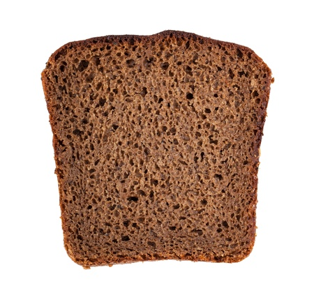 life loaf: Rye bread slice isolated on white background
