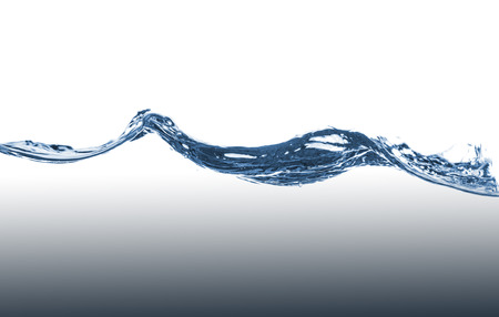 water level: Blue water wave on a white background