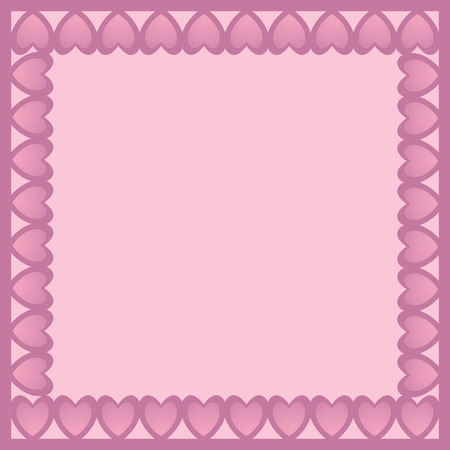 multiple birth: Beautiful frame decorated with pink hearts with big space for your own text
