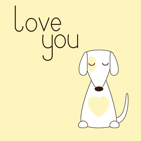 geschlossene augen: Nette stilisierte Jack Russel Terrier sitzt mit geschlossenen Augen. Illustration