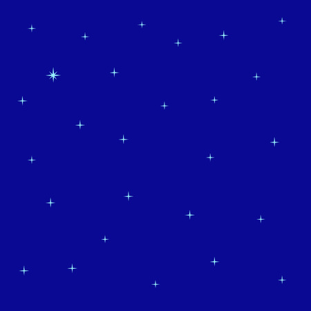 stargazing: Abstract background with bright navy sky and blue shining stars and polar star