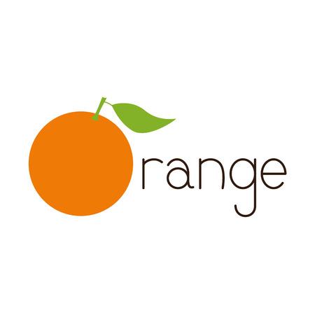 Brown colored lettering orange with big bright orange  Ilustração