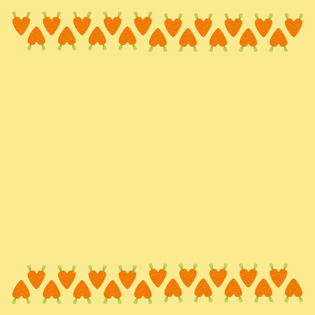 haulm: Card with heart shaped carrot decoration border