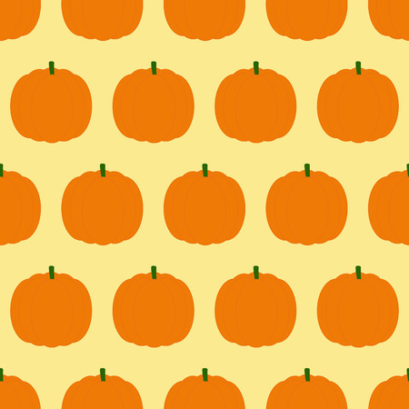 31th: Seamless pattern with repeating orange pumpkins