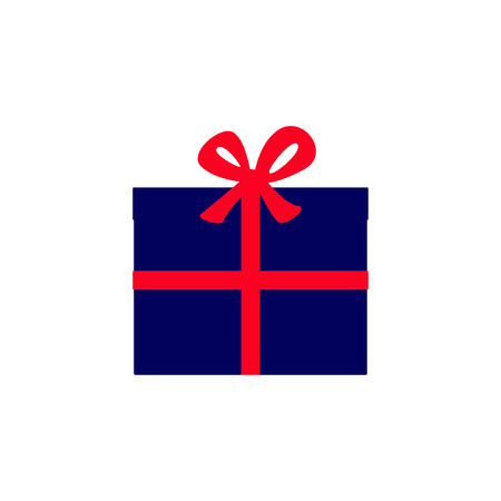 big boxes: Navy colored gift boxes with wide red ribbon tied in a big red bow on top