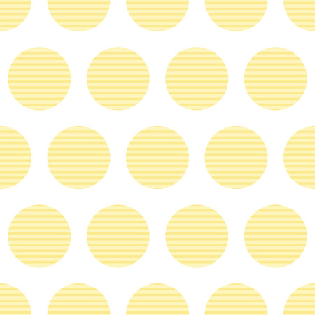 vegetable fat: Seamless pattern with repeating round corrugated potato chips arranged in staggered rows and isolated on white background