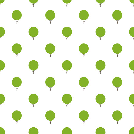 ecology background: Seamless pattern with repeating bushes situated in staggered row on white background