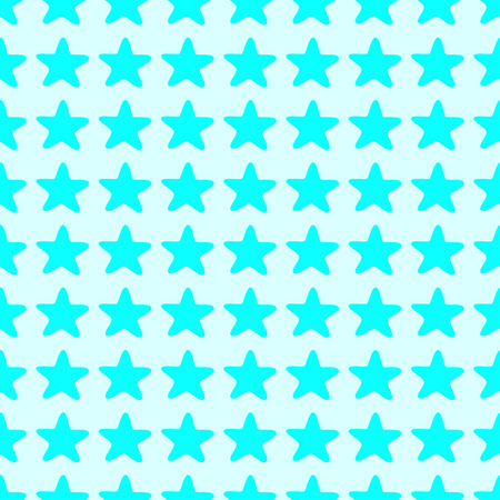 kiddy: Seamless background with stylized celadon colored stars isolated on blue background. Textile, wrapping paper, wallpaper, boxes decoration, other packing elements template Illustration