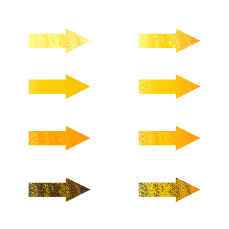fab: Set of different shaped arrows. Design elements