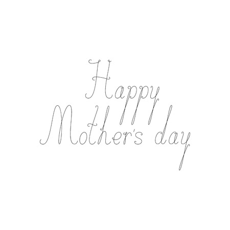 fab: Happy Mothers Day calligraphic lettering isolated on white background. Design element