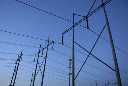 Electric Power Lines and Cell Phone Tower Stok Fotoğraf - 498447