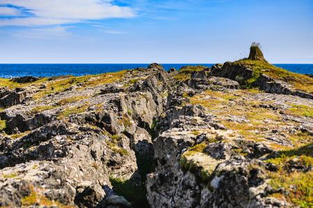 Lava formation londrangar on snaefellsnes peninsula in iceland Stock Photo