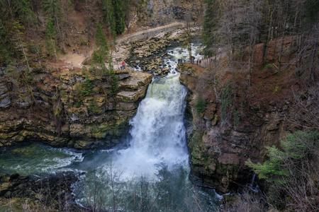 Saut du doubs biggest waterfall in the region of doubs border france switzerland