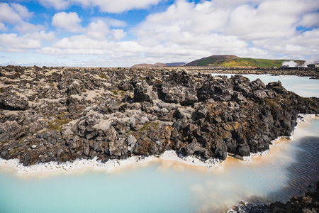Colorful water landscape in the famous blue lagoon iceland