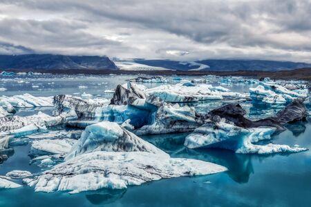 amazing iceberg formations at jokulsarlon glacial lagoon