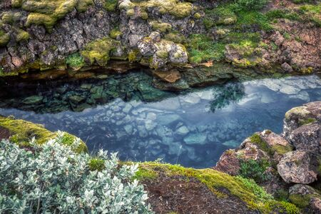 rift of clear water in thingvellir national park, iceland Stock Photo
